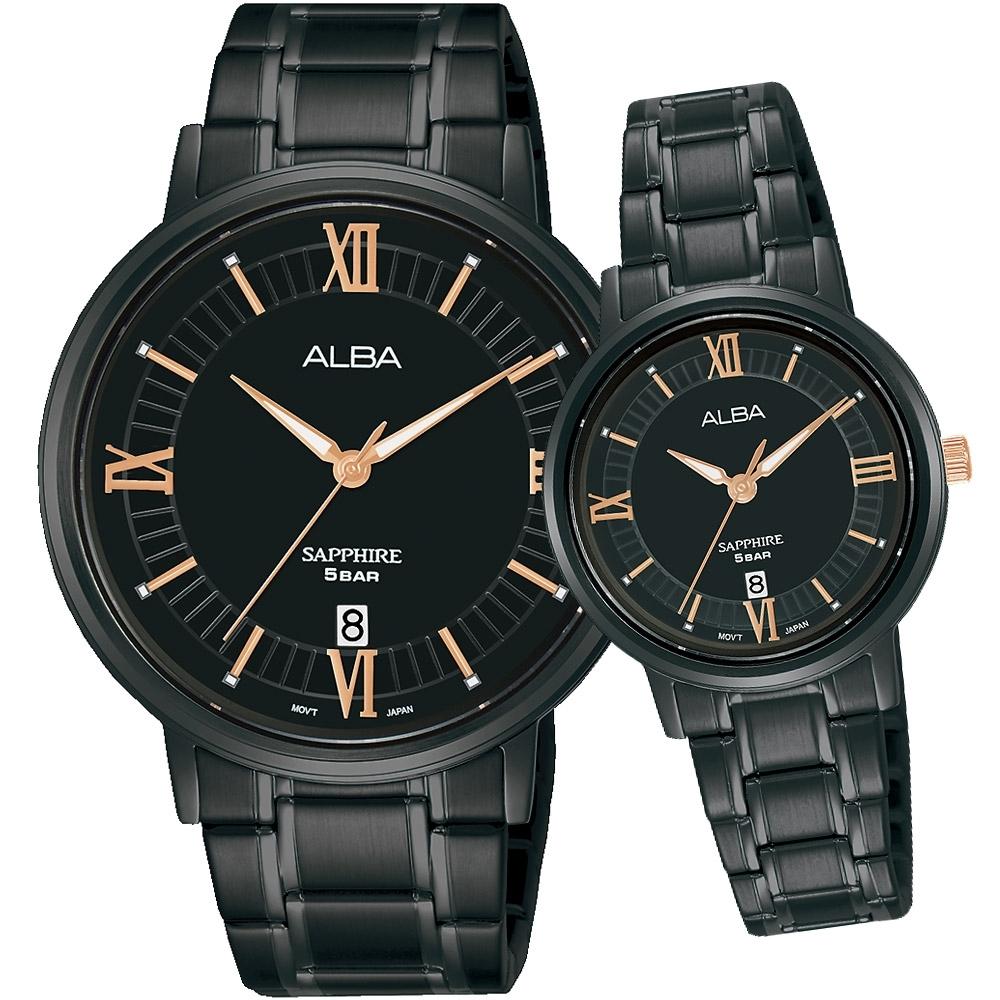 ALBA 雅柏 經典大三針時尚對錶(VJ42-X304SD+VJ22-X324SD)
