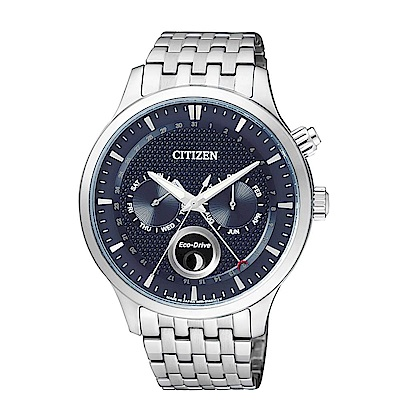 CITIZEN Eco-Drive 簡約時尚經典腕錶(AP1050-56L)-藍