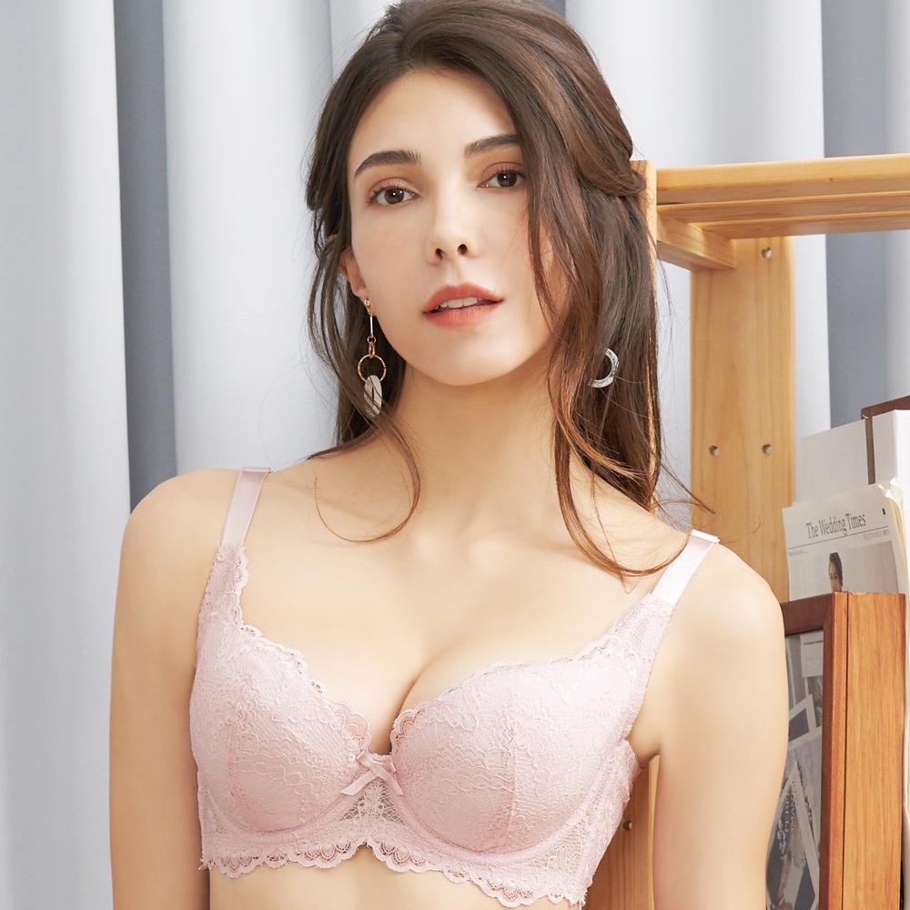 推EASY SHOP-情縴時刻 大罩杯B-F罩內衣(粉紫色)