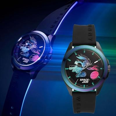 FOSSIL 怪物奇兵 Space Jam 兔寶寶 電影聯名限量錶 套錶-42mm LE1126SET