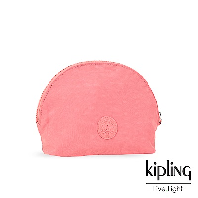 Kipling微甜薔薇粉素面化妝包-ASSEDO