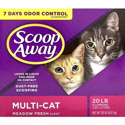 【2入組】美國SCOOP AWAY銀鑽-《超凝結|低過敏|清香》結塊貓砂 20LB(9.07kg)
