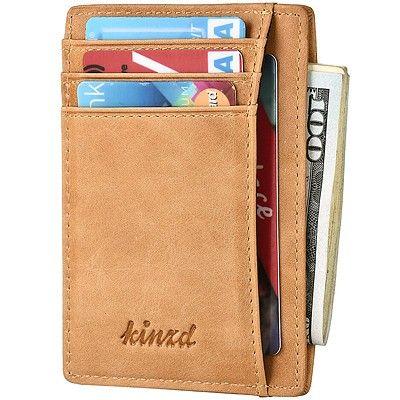 《Kinzd》防盜證件卡夾(焦糖色)