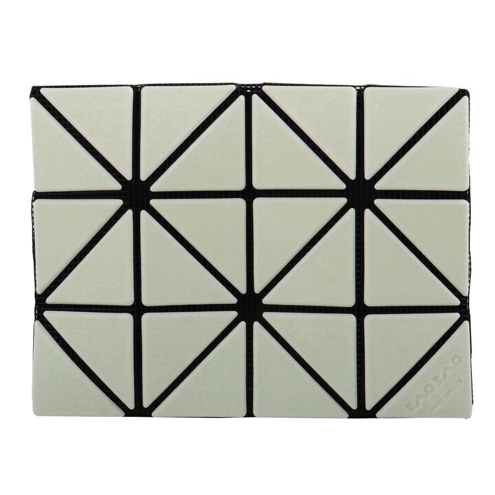 ISSEY MIYAKE  BAOBAO幾何方格雙拼色3x4名片夾/薄荷綠X黃綠