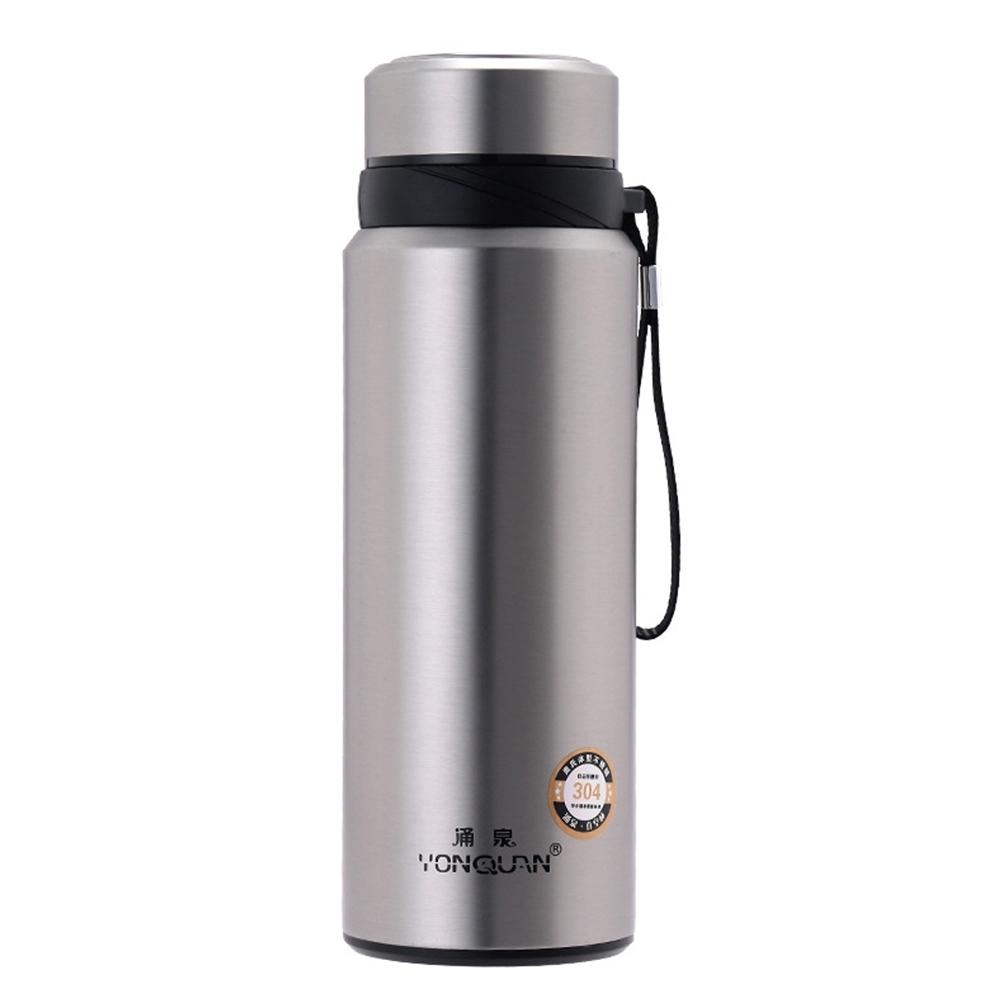 PUSH! 戶外休閒用品不銹鋼雙層真空冷泡茶保溫水壺保溫瓶750ml保溫杯E82不鏽鋼色