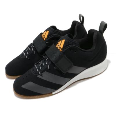 adidas 舉重鞋 Adipower 訓練鞋 男鞋 愛迪達 健身 重訓 後跟加高 專業運動 黑 白 FV6590