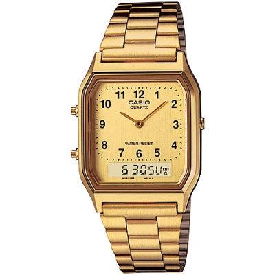 CASIO 金色時尚腕錶-數字面(AQ-230GA-9B)/29.8mm