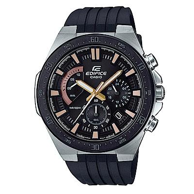 EDIFICE 立體時刻扇形錶眼復古設計賽車腕錶(EFR-563PB-1A)/48.9mm