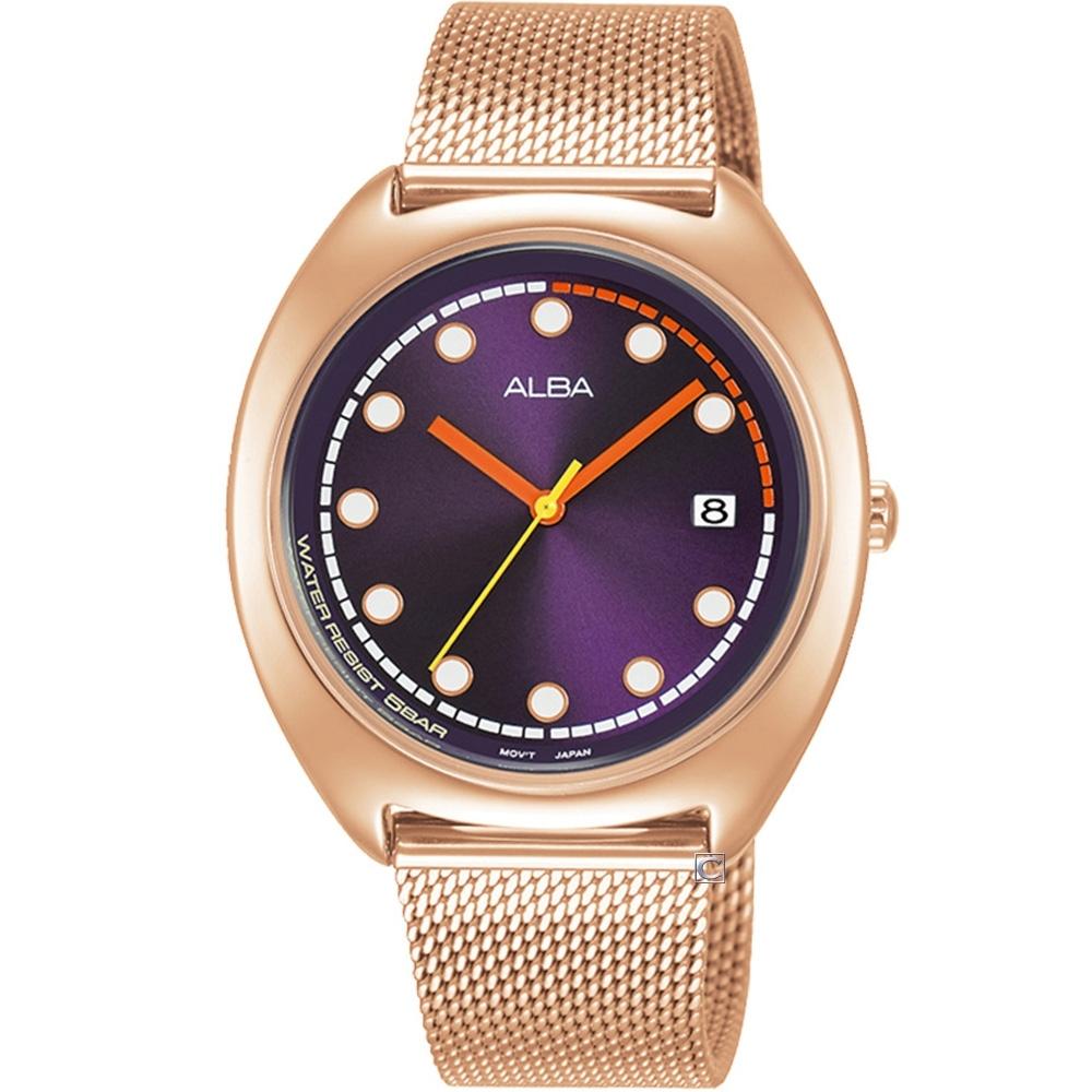 ALBA 雅柏 霓虹時尚米蘭帶錶(VJ32-X304K)AG8K42X1