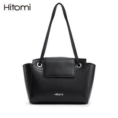 【Hitomi】輕熟好感兩用肩背/斜背包(輕熟黑色12208BK)