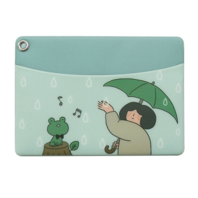 Indigo 女子日常插畫票卡夾 - 03雨中漫步