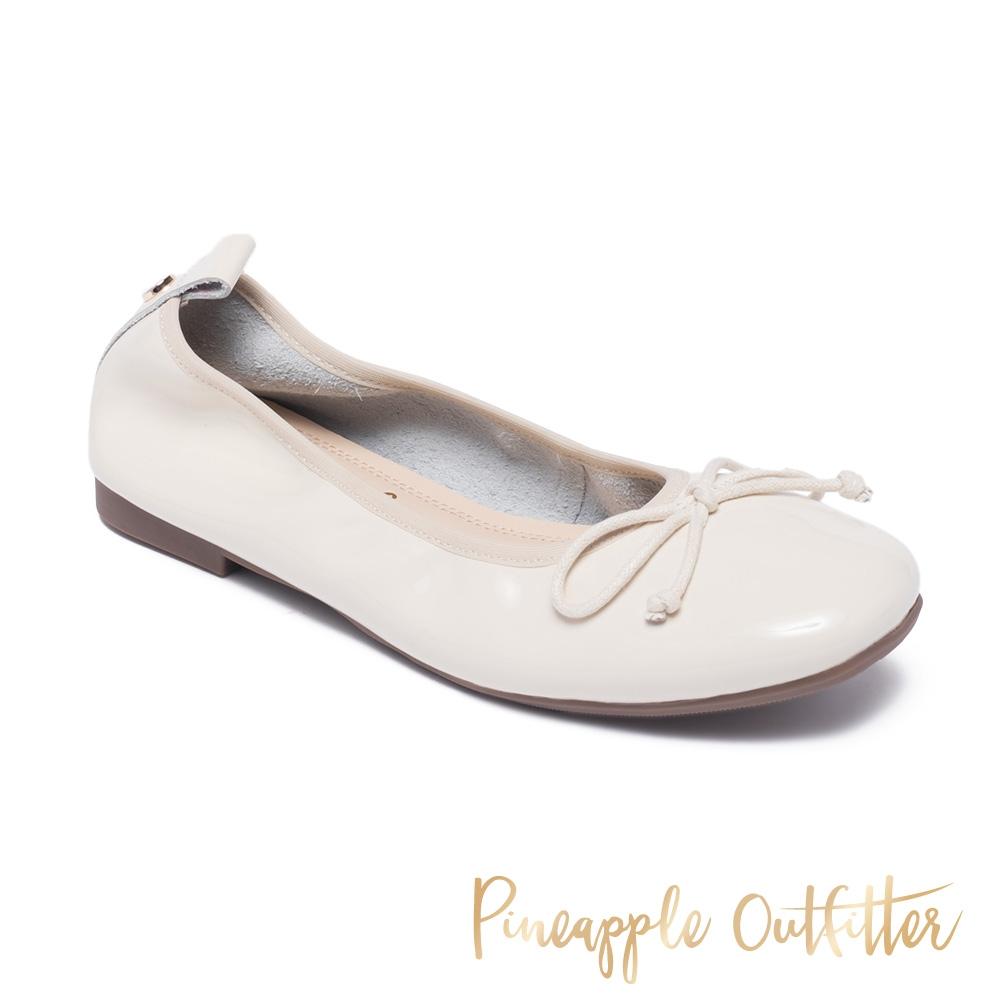 Pineapple Outfitter-FEDORA 真皮蝴蝶結圓頭平底娃娃鞋-鏡米