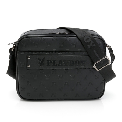 PLAYBOY- 立體半格兔斜背包 trendsetter系列-深灰色
