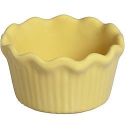 《EXCELSA》荷葉邊陶製布丁杯(黃)