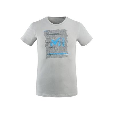 MILLET 男 RISE UP 有機棉短袖排汗T恤 灰-MIV77749174