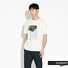 H:CONNECT 韓國品牌 男裝-圖印幾何圓領T-shirt-白