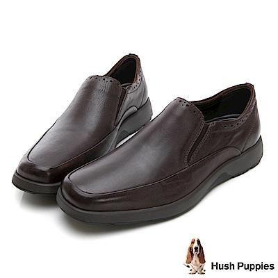 Hush Puppies WOLFHOUND 紳士直套式皮鞋-深棕