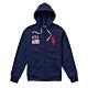 Polo Ralph Lauren 年度熱銷刺繡大馬國旗連帽外套-深藍色 product thumbnail 1
