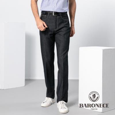 BARONECE 百諾禮士休閒商務  男裝 純棉L袋平口牛仔長褲-黑藍色(1188827-38)