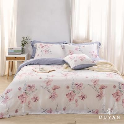 DUYAN竹漾-60支萊塞爾天絲-雙人加大兩用被床包四件組-木槿清風 台灣製