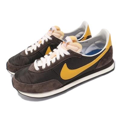 Nike 休閒鞋 Waffle Trainer 2 男女鞋 基本款 復古 簡約 麂皮 情侶穿搭 棕 黃 DB3004200