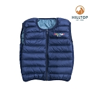 【hilltop山頂鳥】童款超潑水保暖蓄熱羽絨雙面穿內背心F25CF6綠藍