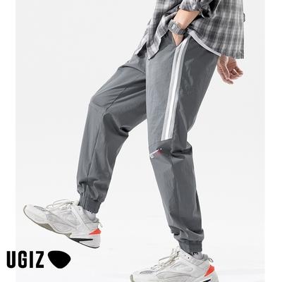 UGIZ男裝-時尚潮流簡約口袋撞色條紋造型長褲-3色(M-2XL)