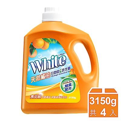 (買箱送箱)白帥帥 天然抗菌洗衣精-3150gx4瓶 送補充包/箱購