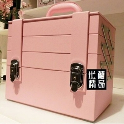 米蘭精品 化妝箱隨身收納盒-PU防水手提美妝美甲專業工具箱73d37