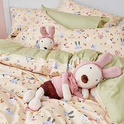 戀家小舖 / 雙人床包被套組  妮妮公主  100%精梳棉  台灣製