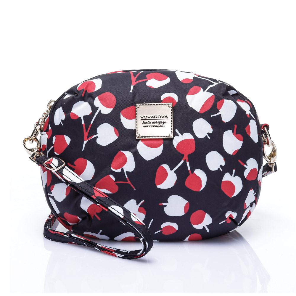 VOVAROVA空氣包-圓鼓鼓側背包-Cherrypicks(Black&Red)