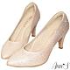 Ann'S艾莎女王-漸層色調冰雪手工燙鑽尖頭婚鞋-粉(版型偏小) product thumbnail 1