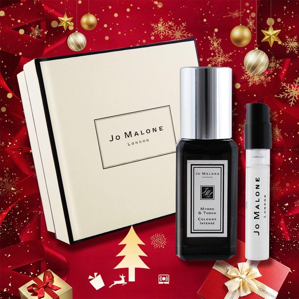 Jo Malone 奢華黑瓶繽紛聖誕禮盒組[香水9ml+1.5ml+禮盒]-多款可選[節慶交換禮物]