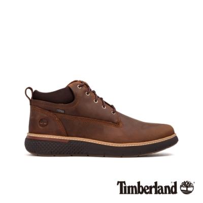 Timberland 男款棕色全粒面皮革Cross Mark鞋|A2C1M