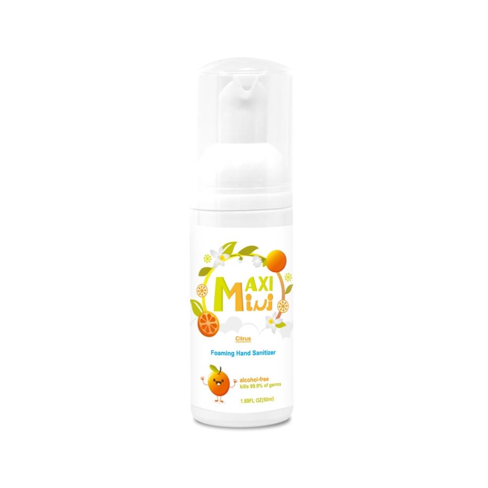 美國 【MaxiMini】 無酒精乾洗手抗菌慕斯(柑橘味)