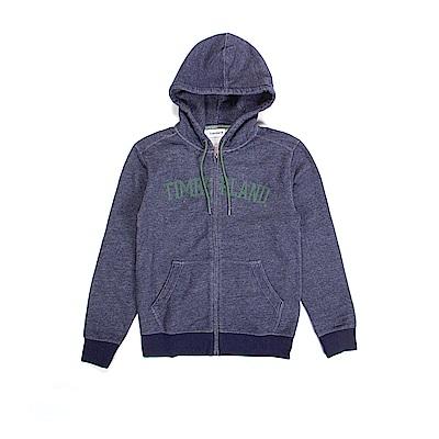 Timberland 男款航海藍拉鍊連帽運動衫 | A1LUJJ39