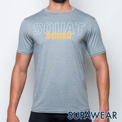 SUPAWEAR 健身同好-反光標識快乾透氣健身慢跑運動短袖T恤(淺灰色)