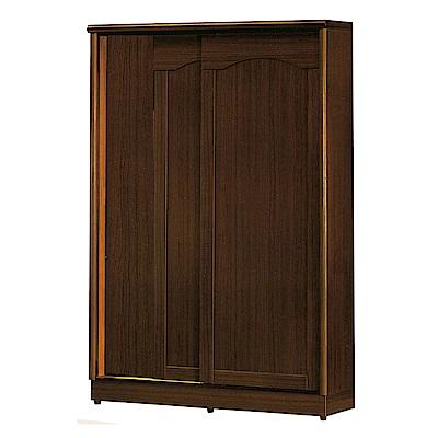 綠活居 麥柏5尺實木推門衣櫃/收納櫃(二色+穿衣鏡)-150x60x210cm-免組