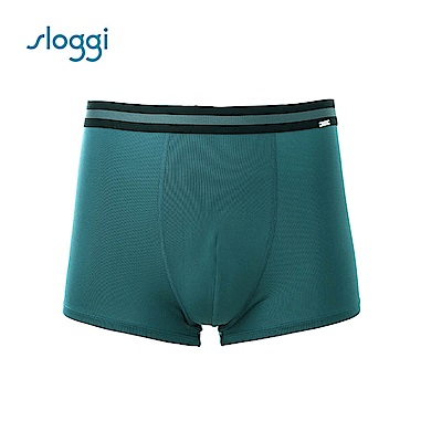 sloggi men 極尚系列Café 涼感合身平口褲 墨綠