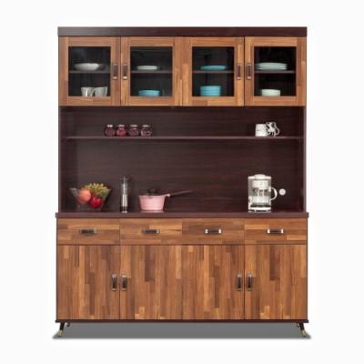 MUNA 艾德格5.3尺積層色餐櫃(全組) 160.2X40X203cm