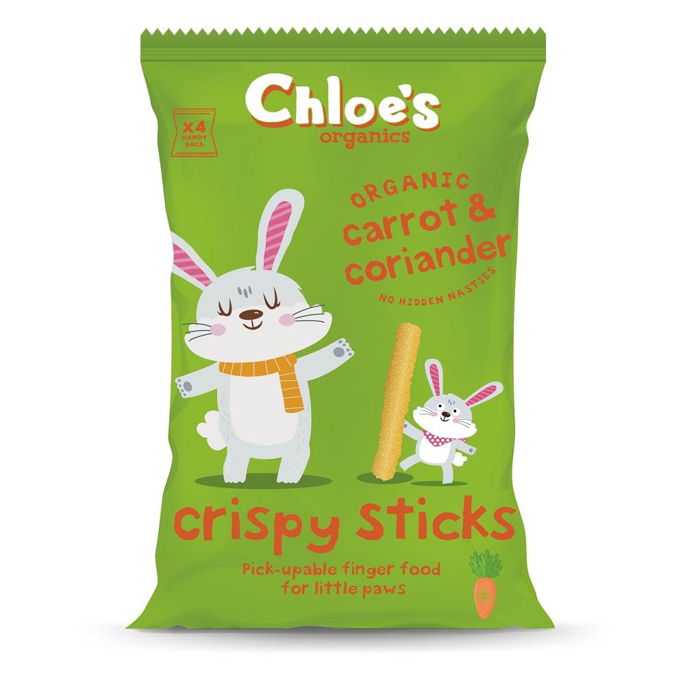 英國進口 Chloe's 克蘿伊有機幼兒長條米餅(紅蘿蔔) 15gx4包入
