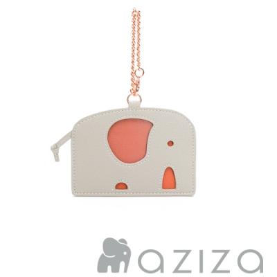 aziza 小象造型票卡夾 小象灰