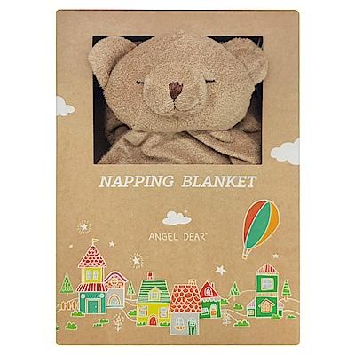 美國 Angel Dear 大頭動物嬰兒毛毯 (棕色熊熊)