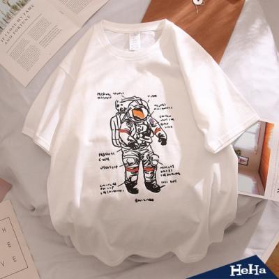 HeHa-太空人分析情侶短袖上衣 兩色