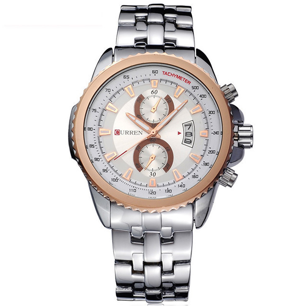 CURREN 卡瑞恩8082-個性MAN感仿二眼日曆手錶 (4色任選) product image 1