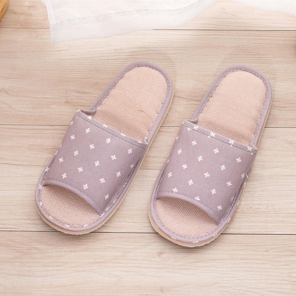 333家居鞋館 十字紋室內蓆拖鞋-粉色