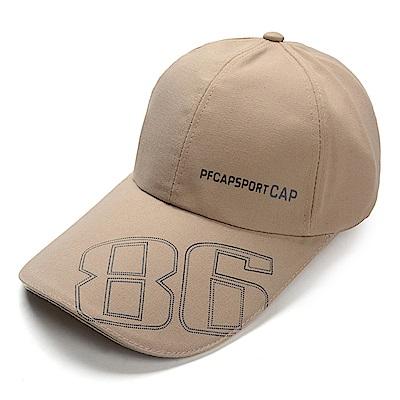 幸福揚邑 防曬防紫外線防風舒適透氣戶外運動86造型棒球帽鴨舌帽-駝