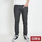 EDWIN EDGE LINE 大尺碼  漸層袋花 窄直筒牛仔褲-男-黑色
