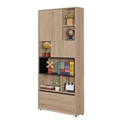 MUNA 祖克柏2.64尺一抽二門書櫃 80X30X197cm