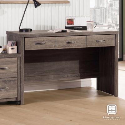 漢妮Hampton卡特鋼刷4尺三抽書桌-120x56x79